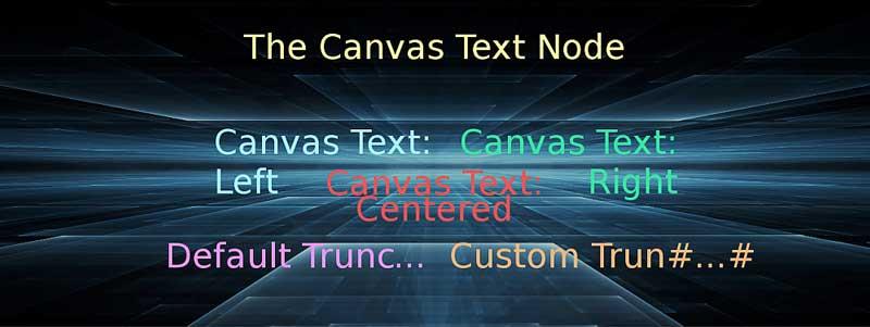 Canvas Text