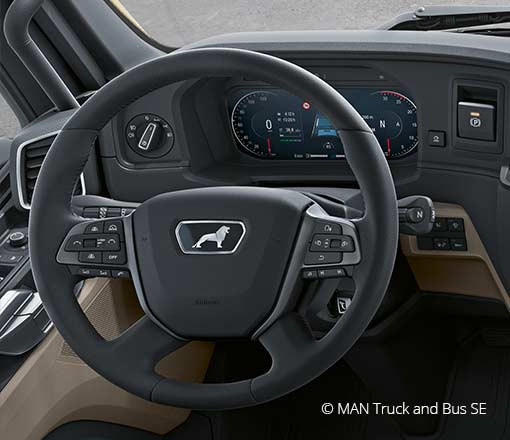 MAN Truck Cluster created with CGI